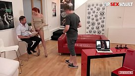 VipSexVault - David Perry Got Seduced In His Own Porn Office By A Sexy Russian MILF Eva Berger