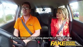 Fake Driving School Blonde...