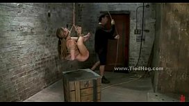Sex slave tied very...