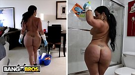 BANGBROS - My Dirty Maid Destiny Slams Her Cuban Big Ass On My Cock