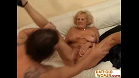 Granny Open her Mouth for Young Sperm