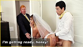 BANGBROS - MILF Bride Brooklyn Chase Gets Fucked By Step Son!