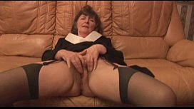 Hairy Granny in stockings...