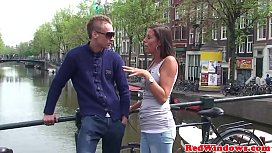 Real amsterdam hooker doggystyled...