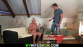 Taboo sex with his very old mother-in-law