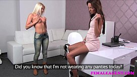 FemaleAgent Incredible blonde strikes...