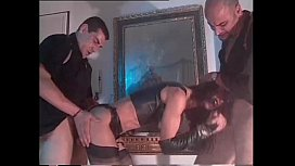 Vintage porn with Venere Bianca in latex dress fucked by two men xnxx image