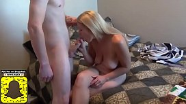 Shy Redhead Boy Spying On His Busty and Hairy Roommate