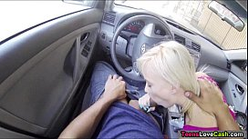 Teen Maddy Rose sucking dick for a ride