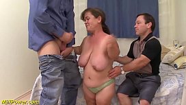 Tiny milfs first threesome...
