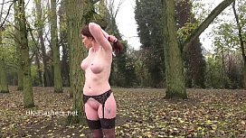 Redhead Holly Kiss flashing...