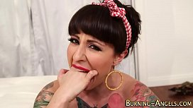 Tattooed pinup gets anal...