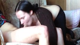 Russian girl deep blowjob