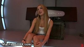 Big breasts blonde gets...