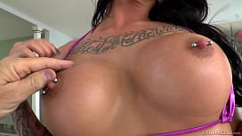 Dominating beauty licks her...
