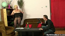 Naughty mature gets shagged after photosession