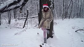 White stockings wet in...