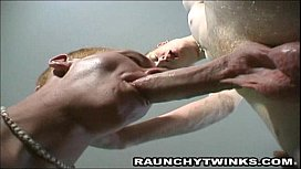 Horny blonde twinks making...