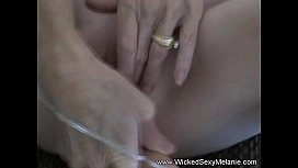 Toying And Swallowing Cum...