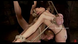 Blonde sex slave with...