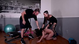 Fetish slut Wendy Moon gets Pissed on & Dominated by a Couple