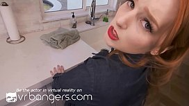 VR BANGERS Redhead pinup housewife cheating on husband with neighbor