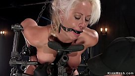 Busty blonde tormented and waxed xxx video