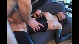 Anal in latex...