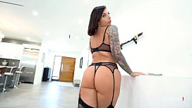 BANG Surprise - Tattooed Ivy Lebelle In Hot Lingerie Fucked