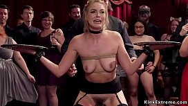 Hairy cunts babes fucked at bdsm orgy
