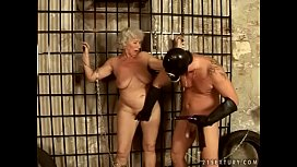 Granny Norma serves her...
