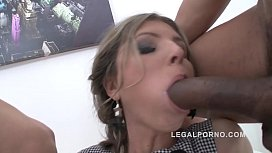 Teen Gina Gerson 5on1 mini gangbang with Super HOT amazing DP