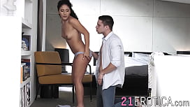 Spicy babe blows her man before anal lovemaking