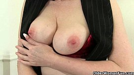 UK milfs Red and Penny are Britain'_s naughtiest secretaries