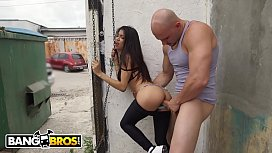 BANGBROS - Young Latina Veronica Rodriguez Fucked Doggy Style In Alley