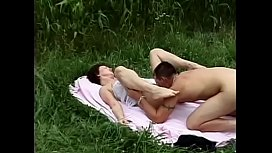 Outdoor sex with a short haired women