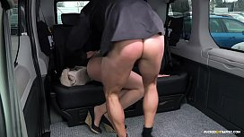FUCKED IN TRAFFIC - Steamy outdoor car sex with hot Czech blonde Katie Sky