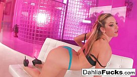 Dahlia Sky plays with...