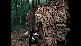 Afro-american slave has a black chick to fuck as a reward xnxx image