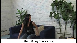 Hot MILF deepthroats, gags and gets banged by a black cock 11