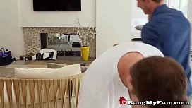 Dad &amp_ Son Enjoy Family Taboo Threesome Fuck With Little Stepsis Ella Knox