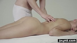 Katy Rose gets dripping wet massage for tight pussy