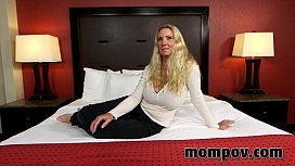 Hot blonde milf gets...