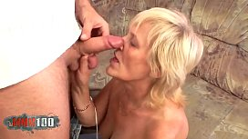 Chubby old woman fucked by a young man