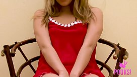 Beautiful Blonde Teen Lily T Teases &amp_ Rubs Her Groomed Twat!