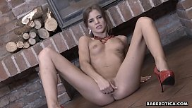 Solo masturbation with a...