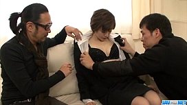 Office threesome along Akina...