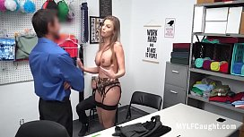 Cop Fucks Stealing MILF In Front Of Her s.- Britney Ambers