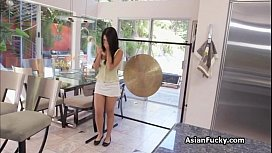 Tight Asian filled with...