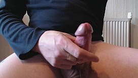My solo 180 (Gettin hard puttin on cock sling n cum at cam)